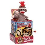 Pop-up sock monkey